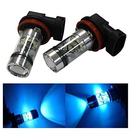 4035310c325 HOCOLO H8 H9 H11 100W LED Fog Light Lamp Bulbs Fog Driving Lights 8000K Ice  Blue