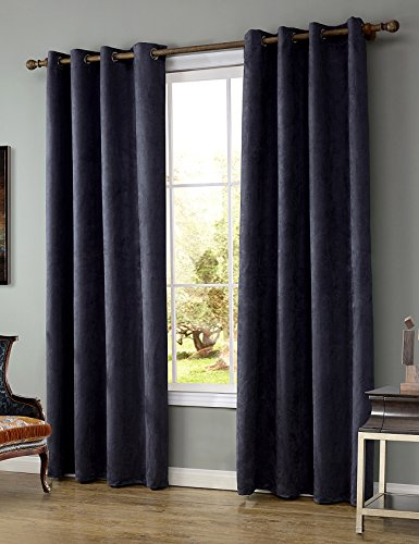 LOHASCASA Easy Blackout Sound Deadening Curtains Small Curtain 1 Panel (52 By 63 Inch Dark Purple)