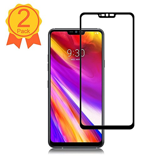 BBInfinite [2 Pack] LG G7 ThinQ Screen Protector 9H Hardness/Anti-Scratch/Anti-Fingerprint/Full Coverage/High Definition/Ultra Clear/Tempered Glass Compatible LG G7 ThinQ Screen Protector(Black)