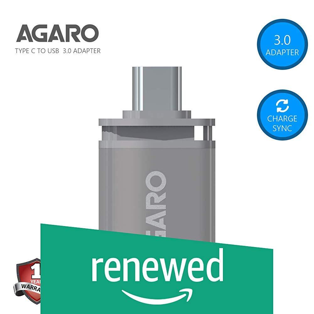 Renewed  AGARO Type C to USB A Female OTG Adapter    Metallic Grey  OTG Adapters