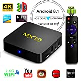 KKmoon Z69 Miracast Media Player Smart Android 7.1 TV Box Amlogic S905X Quad-core UHD 4K 3GB / 32GB Mini PC LAN & WiFi H.265 US Plug
