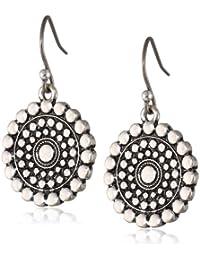 Womens Blue Moon Tribal Drop Earrings