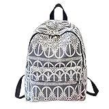ShiningLove Fashion Lady Girls Solid Color Lace Crochet Backpack Schoolbag Soft Shoulder Bag Elegant Racksack Travel Bag Black
