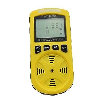 D/étecteur de gaz 4 en 1 LCD num/érique portable avec haute sensibilit/é pour O2//CO//H2S//LEL D/étecteur de fuite de gaz