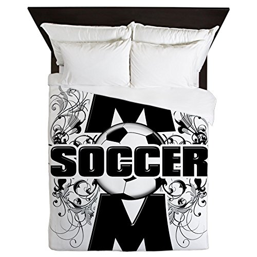 CafePress - Soccer Mom (Cross).Png - Queen Duvet Cover, Printed Comforter Cover, Unique Bedding, Microfiber by CafePress