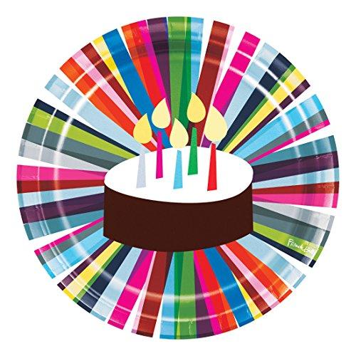 - Creative Converting 322120 Dinner Plates, Birthday Cake