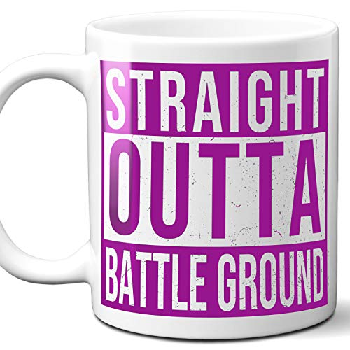 Battleground Jersey - Straight Outta Battle Ground USA Souvenir Mug Gift. Love City Town Lover Coffee Unique Cup Men Women Birthday Mothers Day Fathers Day Christmas. Purple. 11 oz.