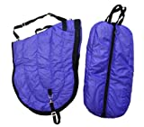aj bag - English All Purpose Horse Saddle Carrier and Matching Bridle Halter Bag Purple Set