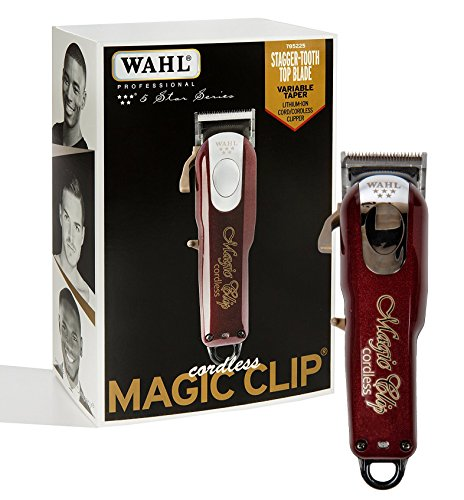 (Wahl Professional 5-Star Cord/Cordless Magic Clip #8148 - Great for Barbers & Stylists - Precision Cordless Fade Clipper Loaded with Features - 90+ Minute Run Time)