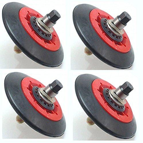 (4 PACK) - Dryer Drum Roller Assembly for LG, 4581EL2002A, AP5688895, PS8260240, 4581EL2002C