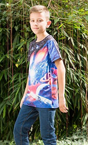 RAISEVERN T-Shirt 3D Stampata per Bambini o Ragazzi 6-16 Anni T-Shirt Bambini Grandi per Bambini