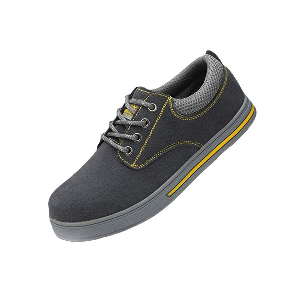 Botas de Seguridad Unisex Gorra con Punta de Acero Zapatos de Trabajo Zapatillas Senderismo Zapatillas con Cordones Zapatos de conducció n