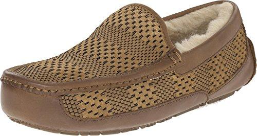 ugg-mens-ascot-weave-chestnut-suede-slipper-12-d-m
