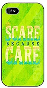 iPhone 5C Scare because care - black plastic case / Walt Disney And Life Quotes