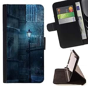 Momo Phone Case / Flip Funda de Cuero Case Cover - Lámpara Lluvia Vintage Retro triste viejo - LG G4