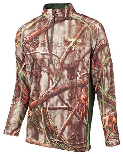 Huntworth Men's 1/4 Zip Performance Fleece Pullover, Oak Tree EVO ,X-Large - Evo Soft Shell Jacket