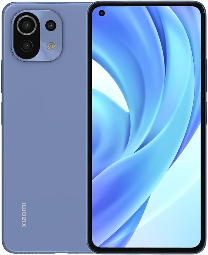 "Xiaomi Mi 11 Lite (128GB, 6GB) 6.55"" 90HZ AMOLED, 64MP Triple Camera, Snapdragon 732G, Dual SIM GSM Unlocked (US + Global) 4G LTE International Version (Fast Car Charger Bundle, Bubblegum Blue)"
