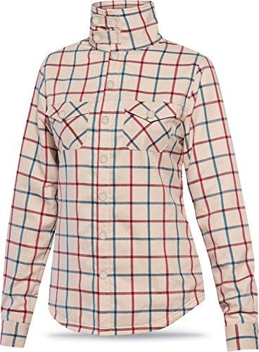 DAKINE Cameron Flannel Top - Women's Turtledove Plaid, S Cameron Button Down Shirt