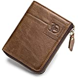 SHAKARAKA Mens Wallet RFID Blocking Minimalist Vintage Genuine Cowhide Leather Wallet for Men