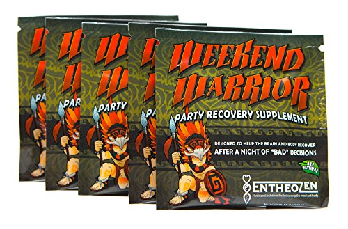 Weekend Warrior Party Recovery 5-pack Anti Hangover EntheoZen with 5HTP and B vitamins