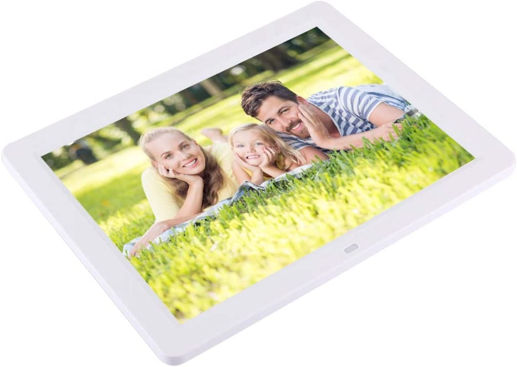 Black Color : White Support SD//MMC//MS Card and USB Lihuoxiu Consumer Electronics 12.1 inch TFT LCD Display Multi-Media Digital Picture Frame with Remote Control
