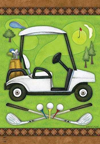 Briarwood Lane Golf Spring Garden Flag Cart Clubs Sports 12.5