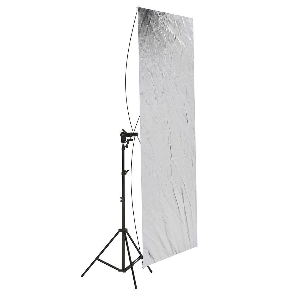 Neewer 35'' x 70''/ 90 x 180cm Photo Studio Gold/Silver & Black/White Flat Panel Light Reflector with 360 degree Rotating Holding Bracket and Carrying Bag