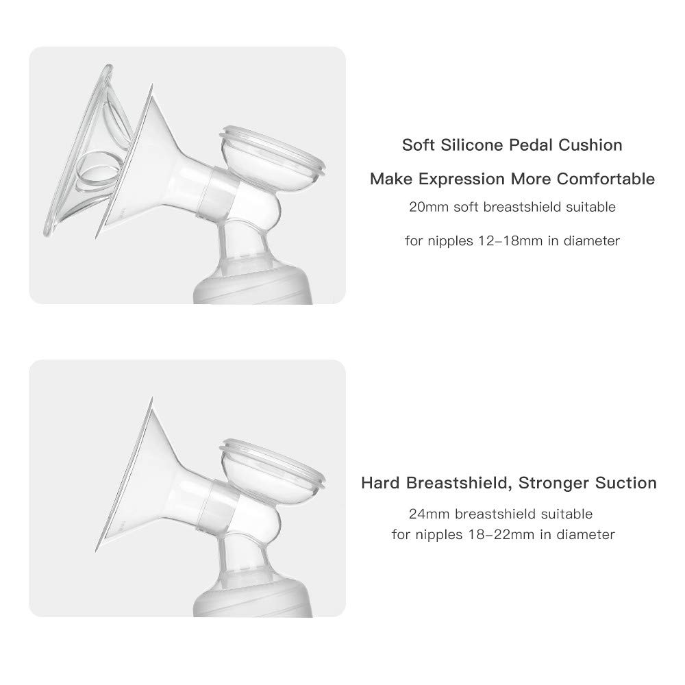 Bedler Tragbare doppelte elektrische Milchpumpe mit Massage und Absaugung 2 Modi 9 Stufen Einstellbar Leise Stillpumpe Sicher f/ür das B/üro zu Hause unterwegs Tragbare Milchpumpen