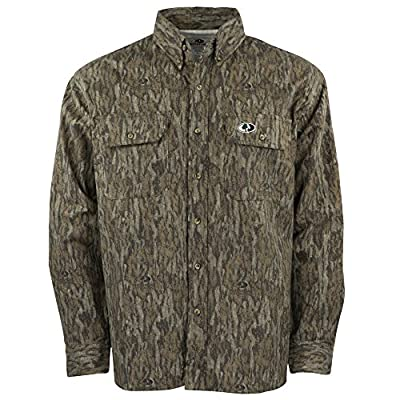 Mossy Oak Men's Camouflage Chamois Hunting Shirt Available In Bottomland & Break-Up Country