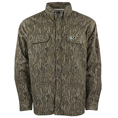 Mossy Oak Men's Camouflage Chamois Hunting Shirt Available In Bottomland & Break-Up - Oaks The Stores