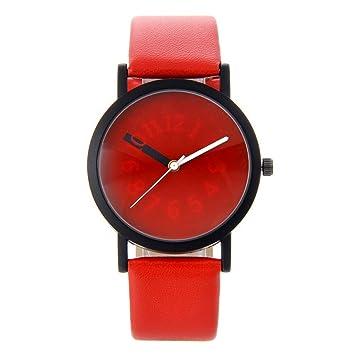 Zxzays nuevos Relojes de Pulsera de diseño Creativo de Moda Especial Número cambiable de Hora de Mano diseño Simple Relojes de Cuarzo Negro, ...