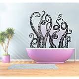 Wall Decals Octopus Decal Vinyl Sticker Bathroom Window Nursery Children Bedroom Home Decor Room Interior Art Murals MN779