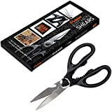 #7: Stainless Steel Kitchen Shears with Blade Cover - Heavy Duty Multi Purpose Kitchen Scissors - Extremely Sharp, Perfect For Cutting Your Chicken, Fish, Poultry And Vegetables