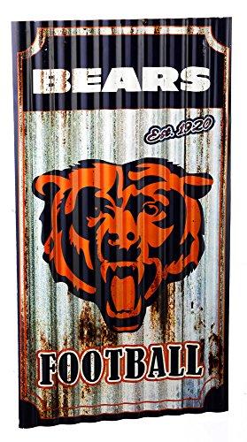 NFL Chicago Bears Corrugated Metal Wall Art, Small, - Art Nfl