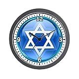 Wall Clock Blue Star of David Jewish