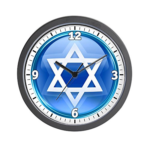 Wall Clock Blue Star of David Jewish by Royal Lion