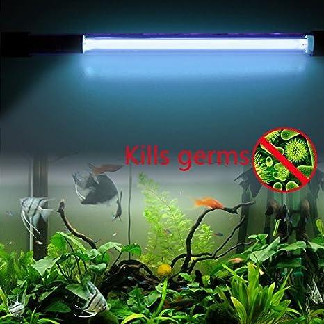 Amazon Com Annong 15w 15inch Ip68 Waterproof Aquarium Fish Tank Uv
