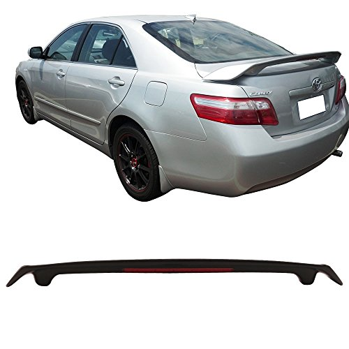 Trunk Spoiler Fits 2007-2011 Toyota Camry | JDM Style Matte Black ABS Added On Rear Lip Wing Bodykits by IKON MOTORSPORTS | 2008 2009 ()