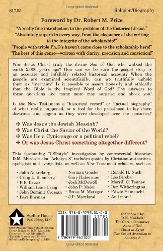 Who Was Jesus Fingerprints Of The Christ Dm Murdock Acharya S