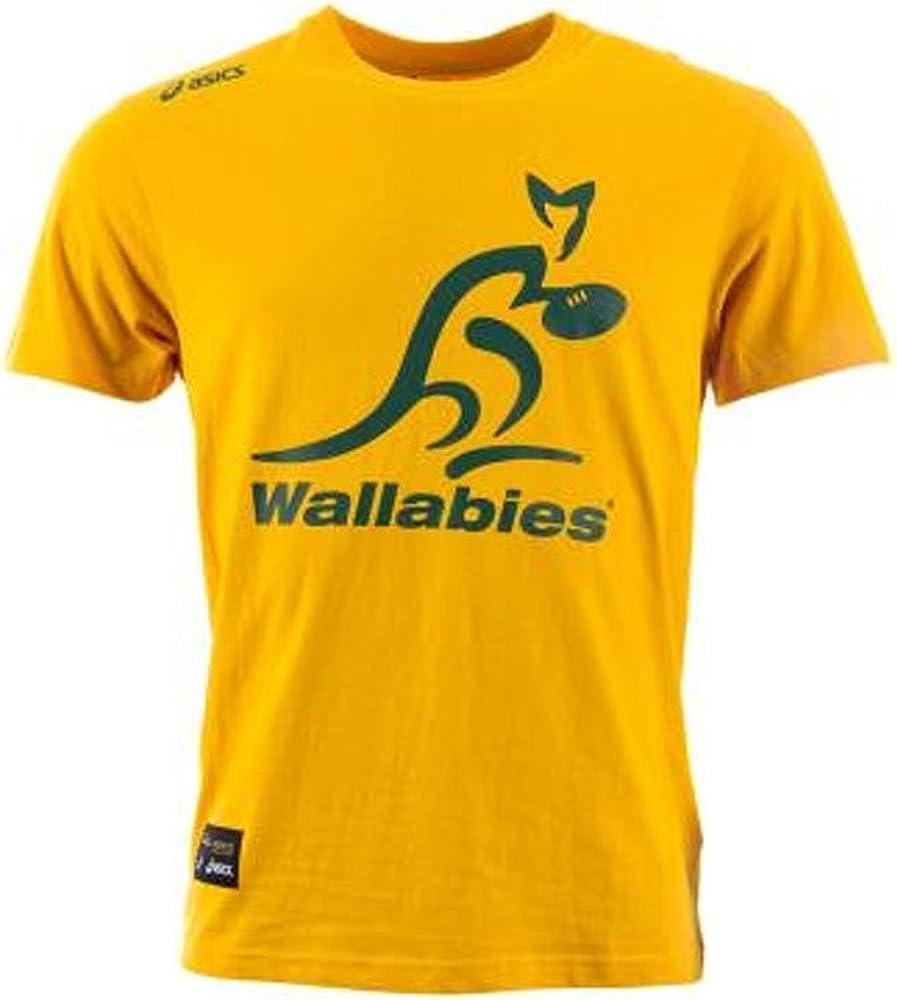Wallabies Logo Tee Gold 14//15 Australia Asics