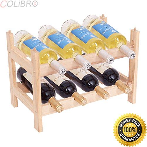 COLIBROX--16 Bottle Wood Wine Rack Holder 4 Tier Storage Display Shelves Stackable. wine rack wall mount. under cabinet wine rack. wine bottle rack ikea. pottery barn wine rack. modern wall wine rack. (Racks Barn Pottery Wine)