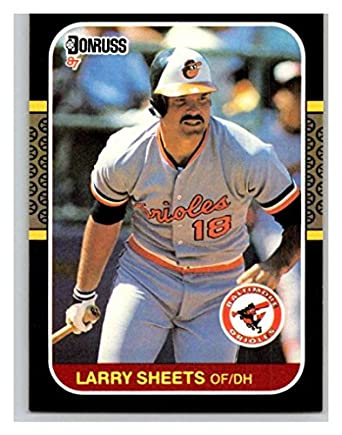 fff2ead08 Amazon.com  (HCW) 1987 Donruss  248 Larry Sheets Orioles MLB Mint ...