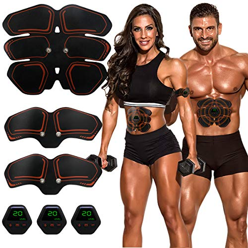 Muscle Toner EMS Ab Trainer Rechargeble Abdominal Toning Belt 10 modes 20 Intensities for Abdomen/Arm/Leg Training Men Women Abs Workout Machine 1