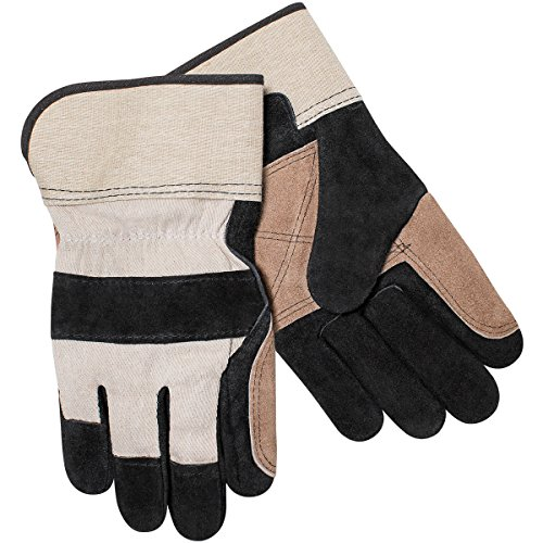 - Steiner 021DP-L Leather Palm Work Gloves, Shoulder Split Cowhide Double Layer Palm 2-Inch Cuff, Large (12-Pack)
