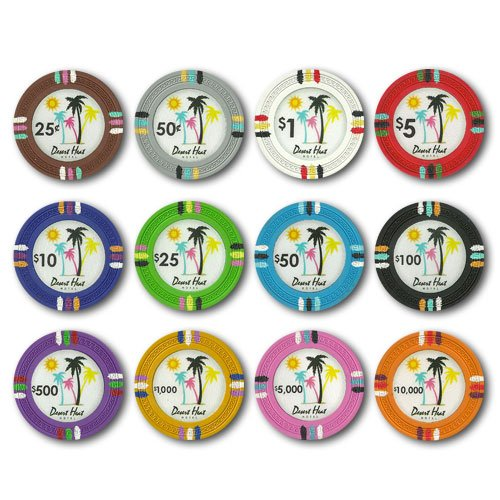 (Desert Heat Claysmith 14gm Clay Poker 12 Chip Sample Set - Includes Bonus Chip Spacer!)