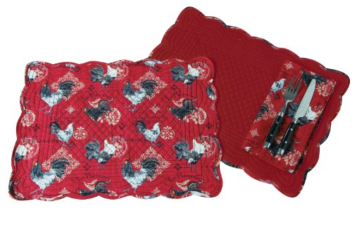 Kay Dee Placemat (Kay Dee Designs Fabric Napkins and Reversible Quilted Placemats, La Provence, Set of)