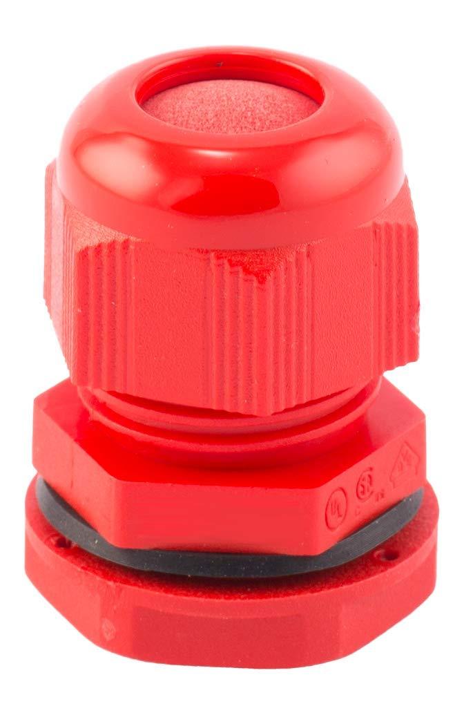 convient pour 6-12 mm filetage M20. Lot de 10 presse-/étoupes en nylon rouge