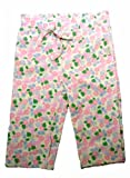 I Play Organic Cotton Pants Medium 18-22 lbs Pink floral