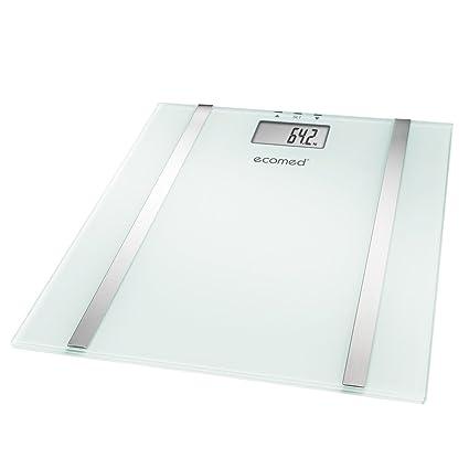 Ecomed BS-70E - Báscula digital de baño con función de análisis, color blanco