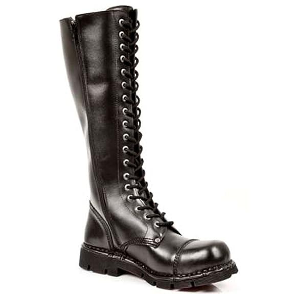 b9e22b7dcc6fc New Rock Newrock NR M.NEWMILI119 S1 Black Boots - Unisex: Amazon.co ...